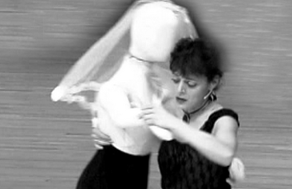 Alma dances with Doll BW